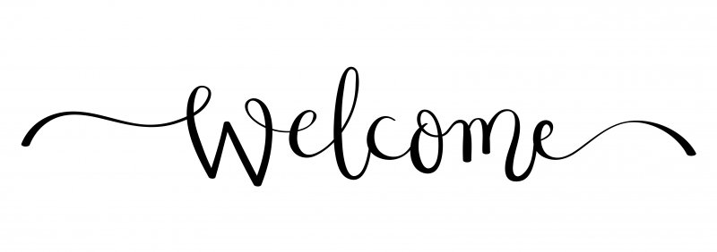 "a black and white image of the word ""Welcome"""